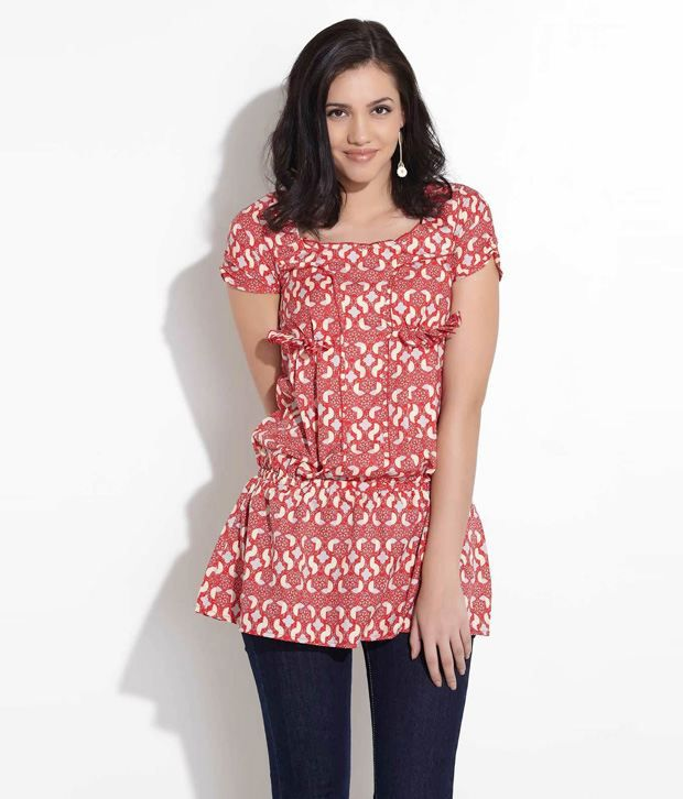 Remanika Red Polyester Top