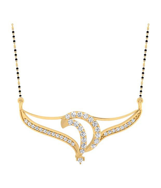 Forever Carat Real Diamond 0.37 ct Mangalsutra in 100% Certified 925 Sterling Silver