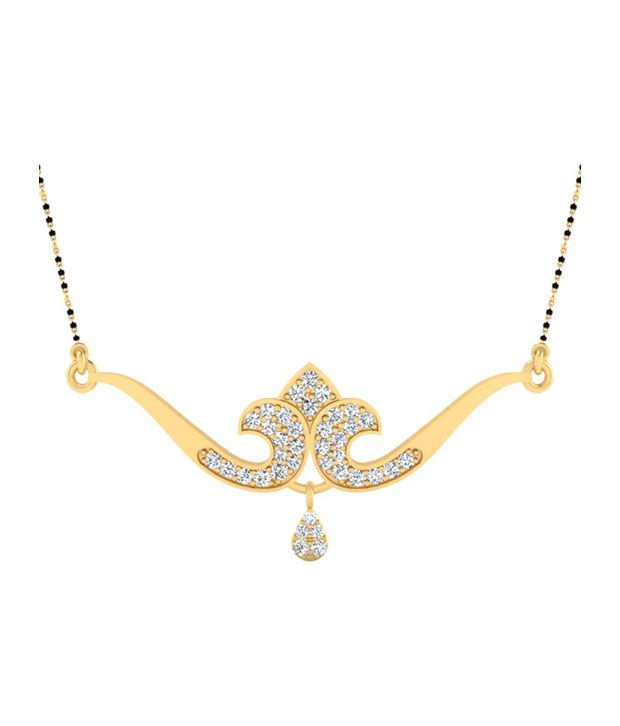 Forever Carat Real Diamond 0.54 ct Mangalsutra in 100% Certified 925 Sterling Silver