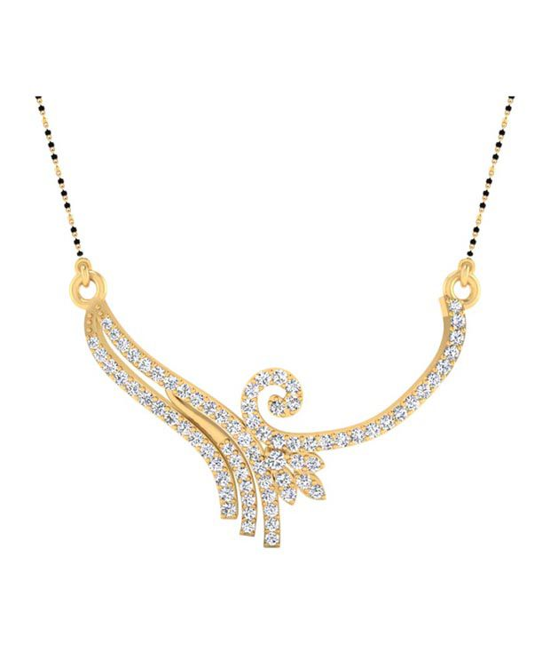 Forever Carat Real Diamond 1.07 ct Mangalsutra in 100% Certified 925 Sterling Silver