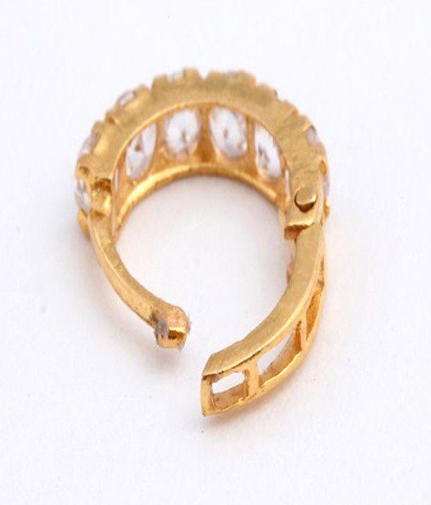 Gandhi Jewellers American Diamond Nose Ring Buy Gandhi Jewellers