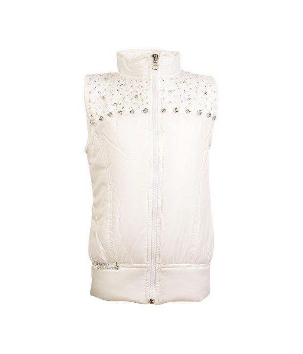 Little Kangaroos White Jackets & Blazer For Girls