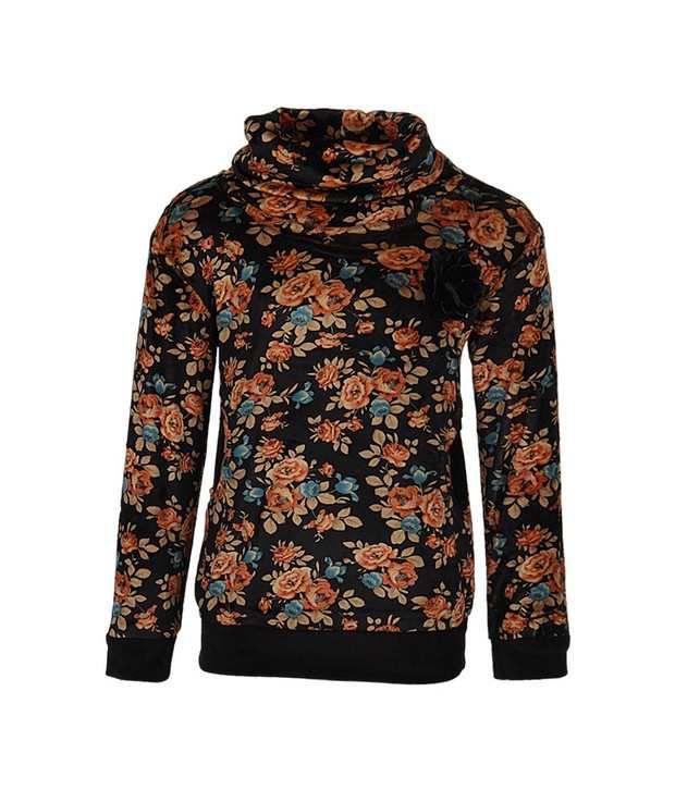 Vine Orange Sweatshirt For Girls