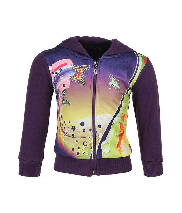 Vine Purple Sweatshirt For Girls