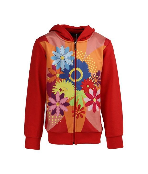 Vine Red Sweatshirt For Girls