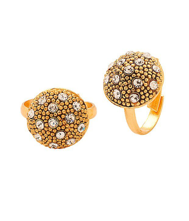 Voylla Classy Gold Tone Toerings Featuring Starry Sky Design