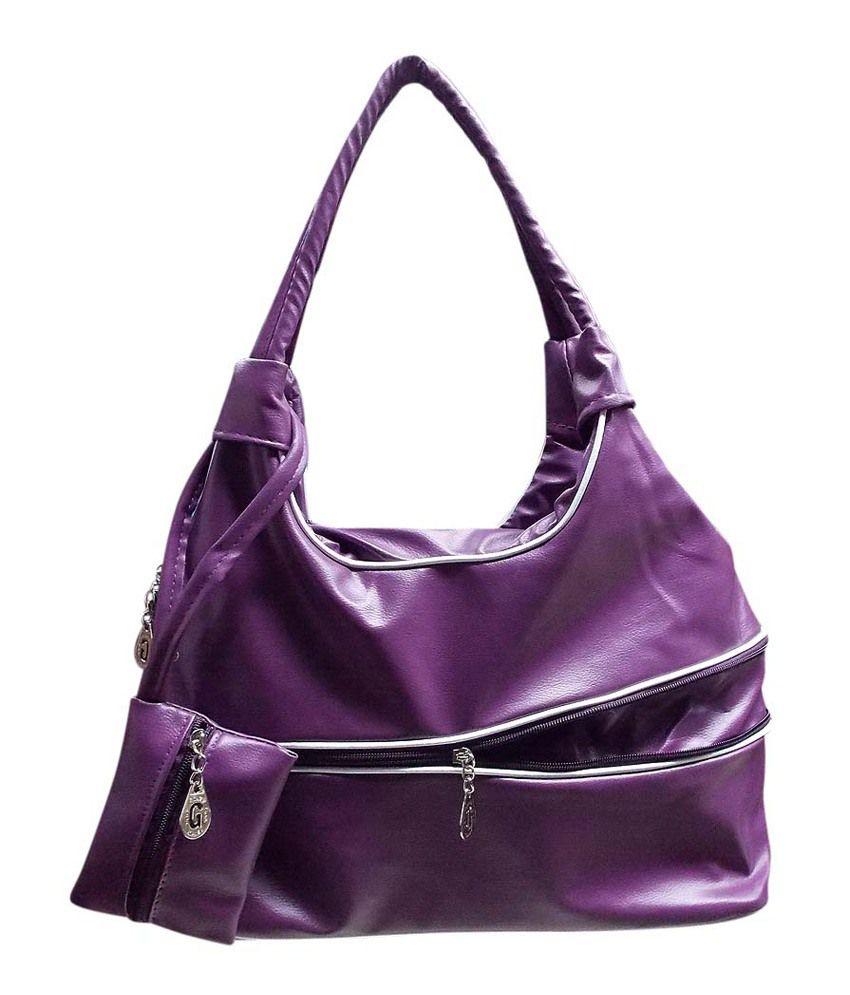 Kreative cb07purple Purple Shoulder Bags