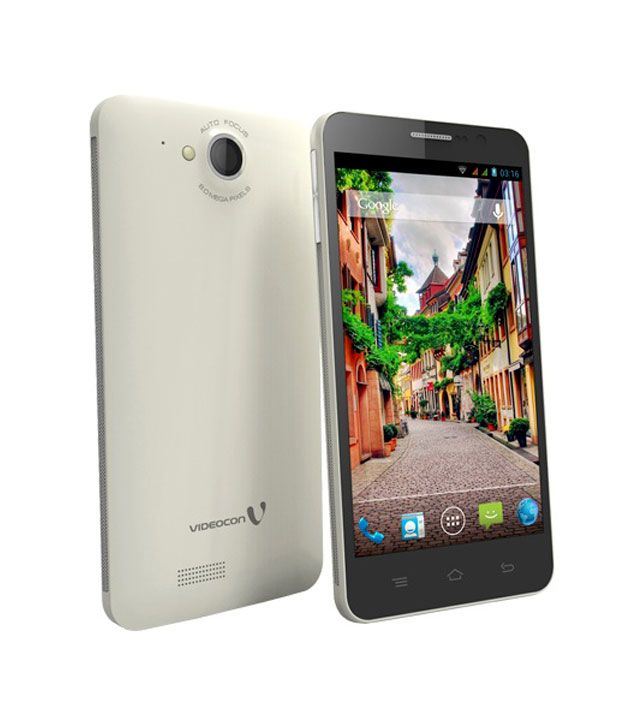 Videocon A55 HD Dual SIM White Mobile Phones Online at Low ...