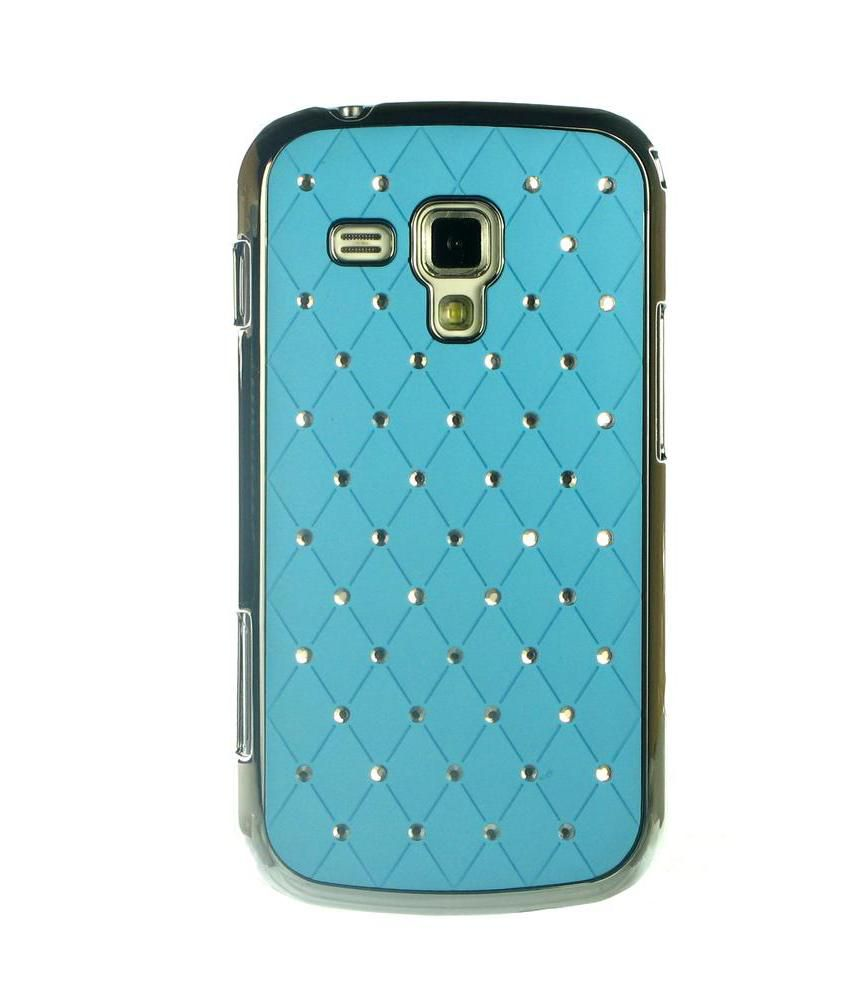 Dressmyphone Sparking Metallic Back Cover For Samsung Galaxy S Duos 2 S7582 - Blue