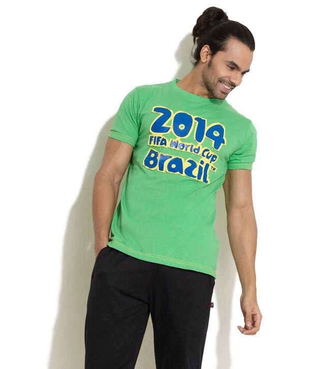 FIFA Green Half Cotton Blend Round  T-Shirt