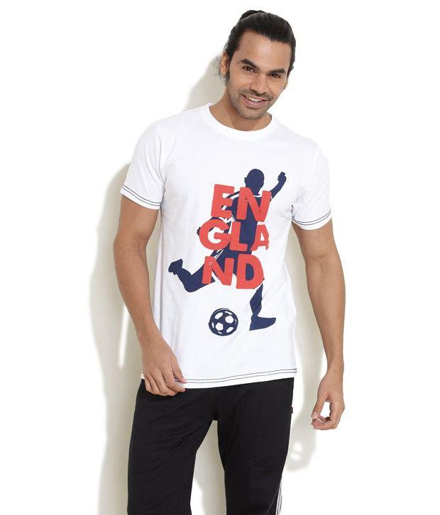 FIFA White Half Cotton Blend Round  T-Shirt