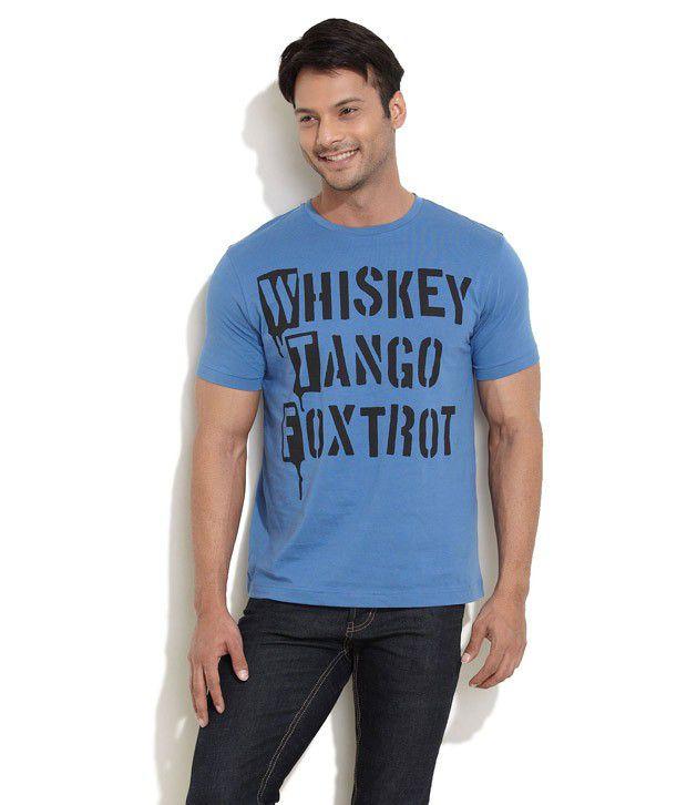 Rattrap Blue Half Cotton Round  T-Shirt