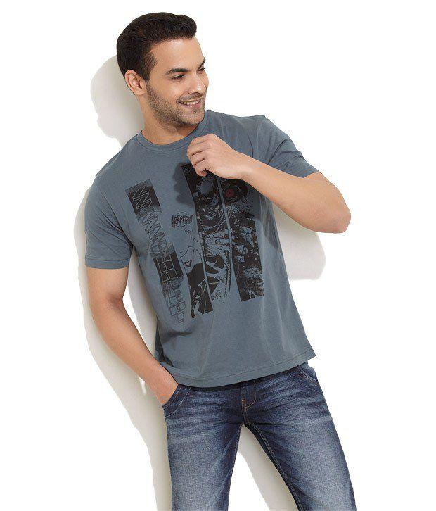 Rattrap Gray Half Cotton Round  T-Shirt