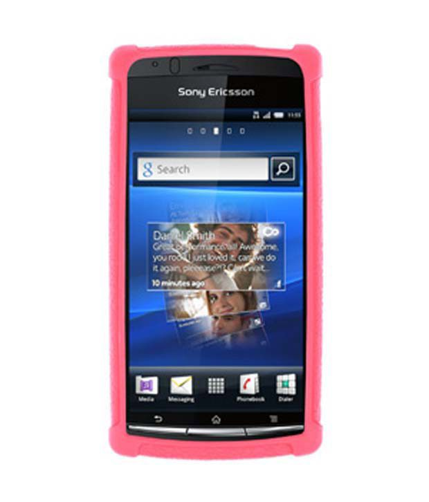 half off 7ed85 e59bf Amzer 91359 Silicone Skin Jelly Case - Baby Pink for Sony Ericsson Xperia  arc