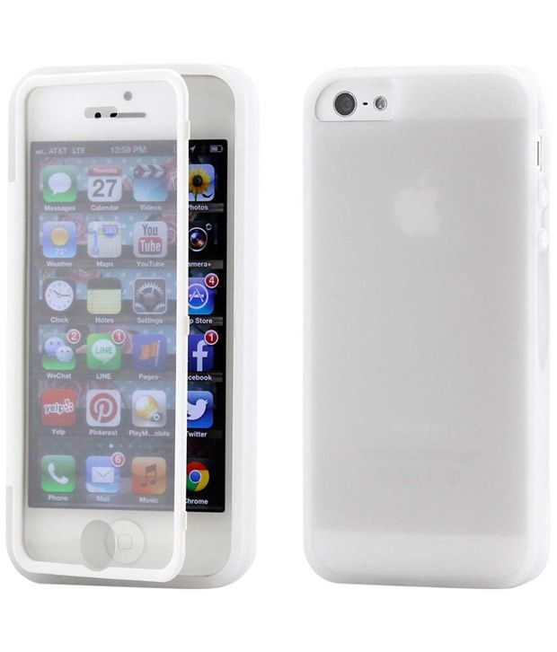 cheap for discount 65cab 5782a Apple iPhone 5/5S Flip Cover by Callmate - White