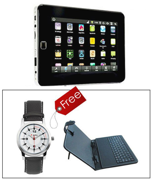 Fujezone Smart Tab with Free Key-board worth Rs.990. & Lotto Watch worth Rs.2499