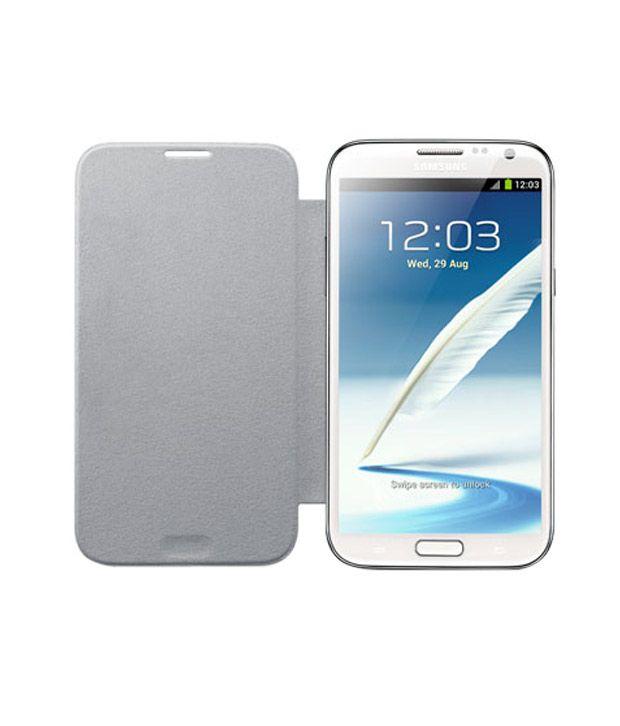 save off db875 c50ea Samsung Galaxy Note2 N7100 Flip Cover EFC-1J9FWEGINU White
