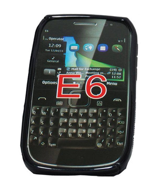 hot sale online d3793 fce71 nCase Fashion Back Cover for Nokia E6 Black