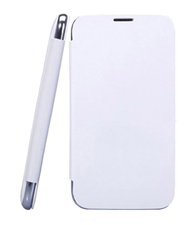 Edge Flip Case Cover for Samsung Galaxy Ace Duos S6802 - White