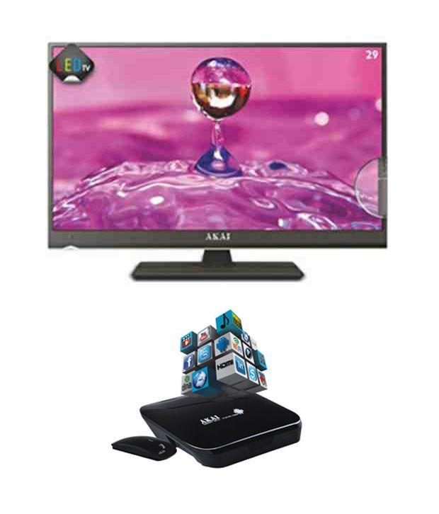 Akai 73.66 cm (29) HD LED TV LED29E12 HD LED Television with Akai Smart  Box
