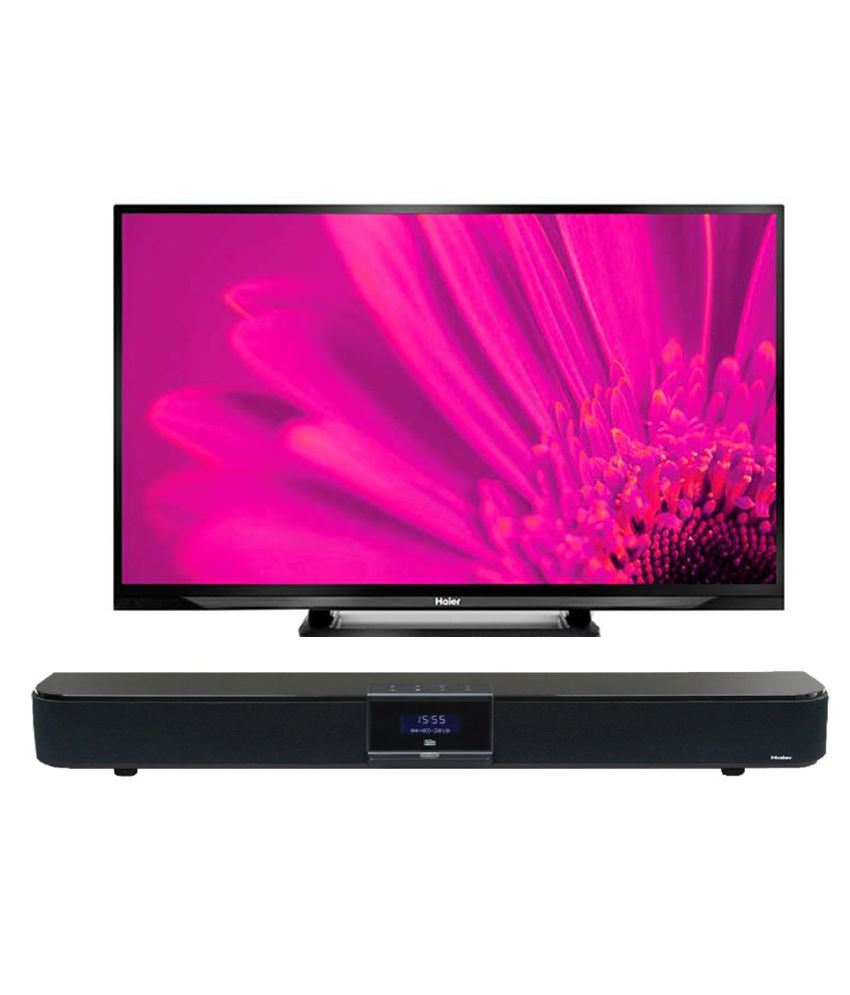 Haier 32V600 81 cm (32) HD Ready Back Lit LED Television With Haier Sound Bar HHT-LSP21A