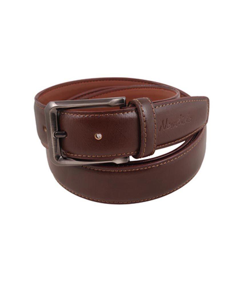 Newhide Brown Seam Belt