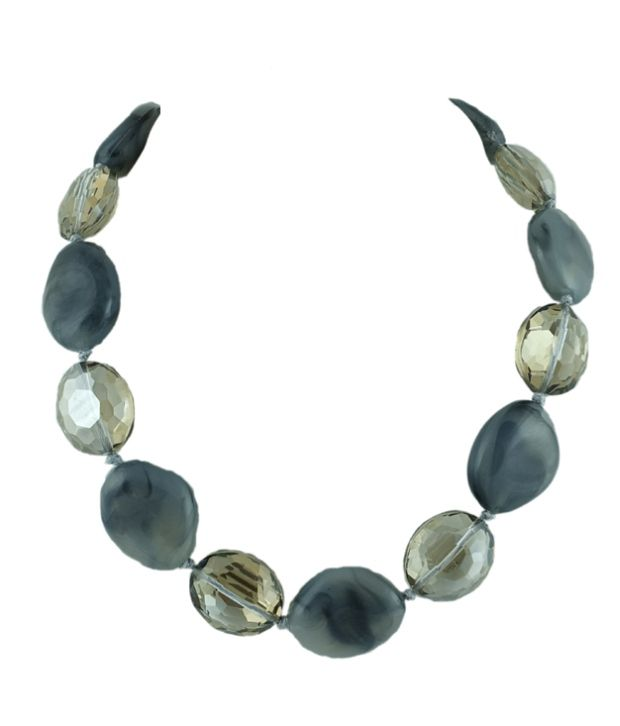 Goldencollections Grey Statement Necklace