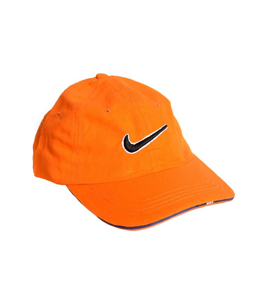 Nike Orange Cotton Baseball Cap Men - Buy Online   Rs.  5106e8c48d3