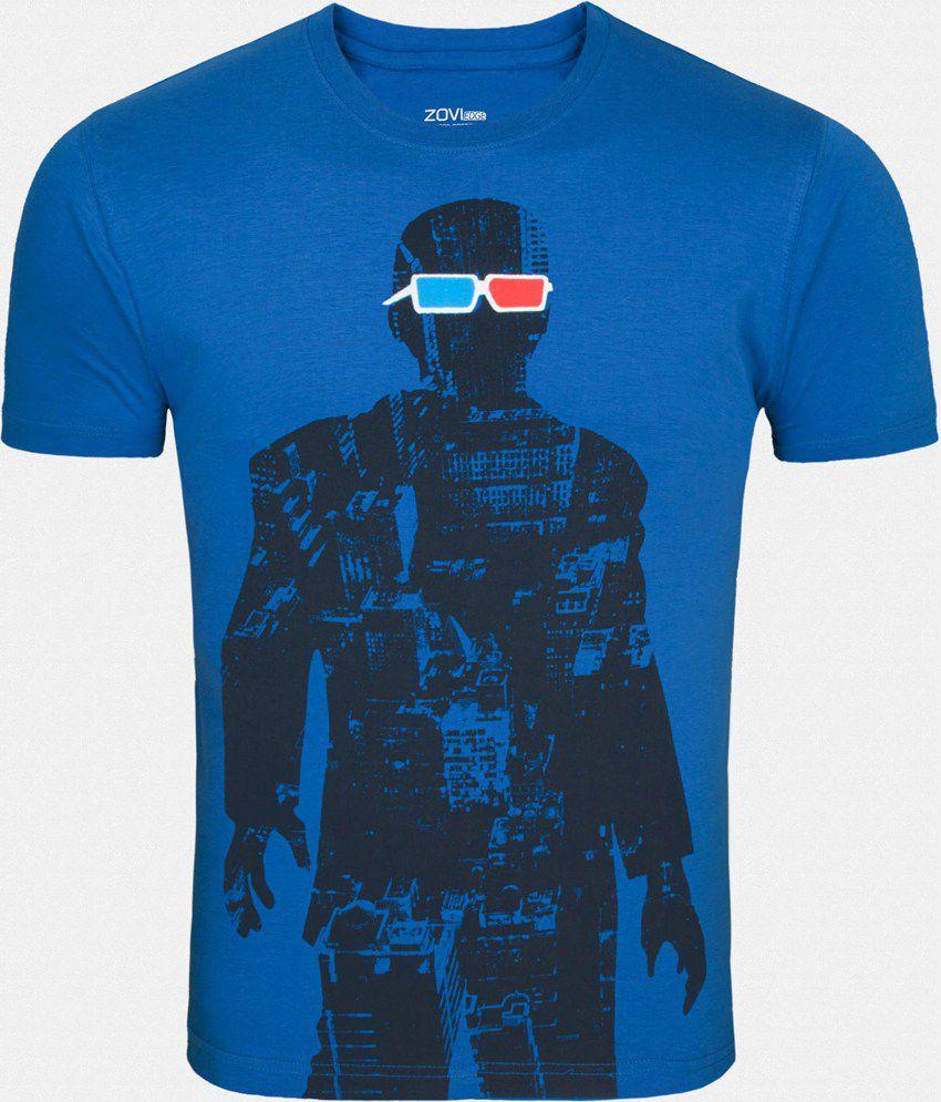 zovi blue cotton t shirt buy zovi blue cotton t shirt