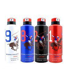 Beverly Hills Polo Club (Combo of 4X175Ml) Deodorants Men
