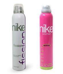 Nike Women Set of 2 (Trendy, Fission) Deodorants- 200ml Each