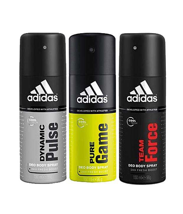 Adidas Dynamic Pulse, pure game & team force Deodorant for Men-150ml Each