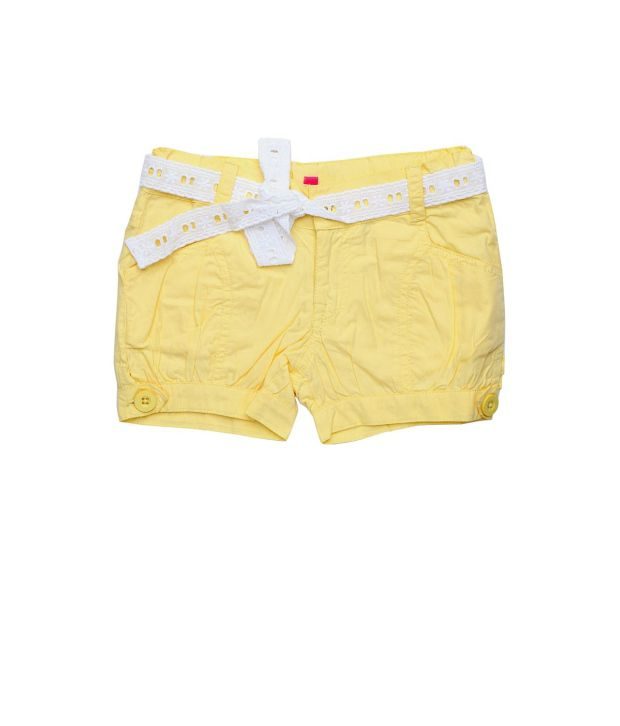 People Yellow Shorts  For Girls