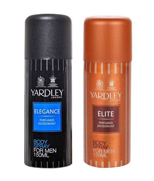 92546f2680d Yardley Elegance Deodorant Spray Men 150 ml + Yardley Elite Perfumed Deodorant  Spray 150 ml ...
