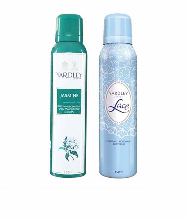 Yardley Women (Jasmine, Lace) Deo Pack of 2-Each 150 ml