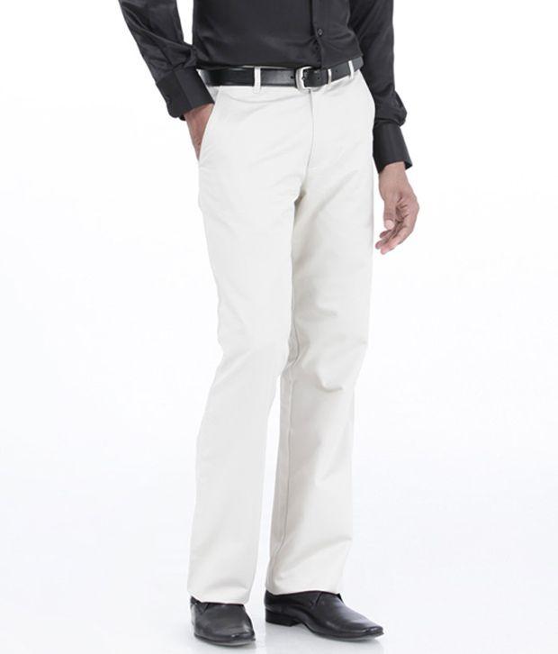 Basics White Comfort Casuals