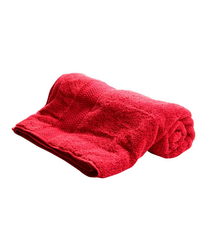 Bombay Dyeing Single Cotton Bath Towel - Red