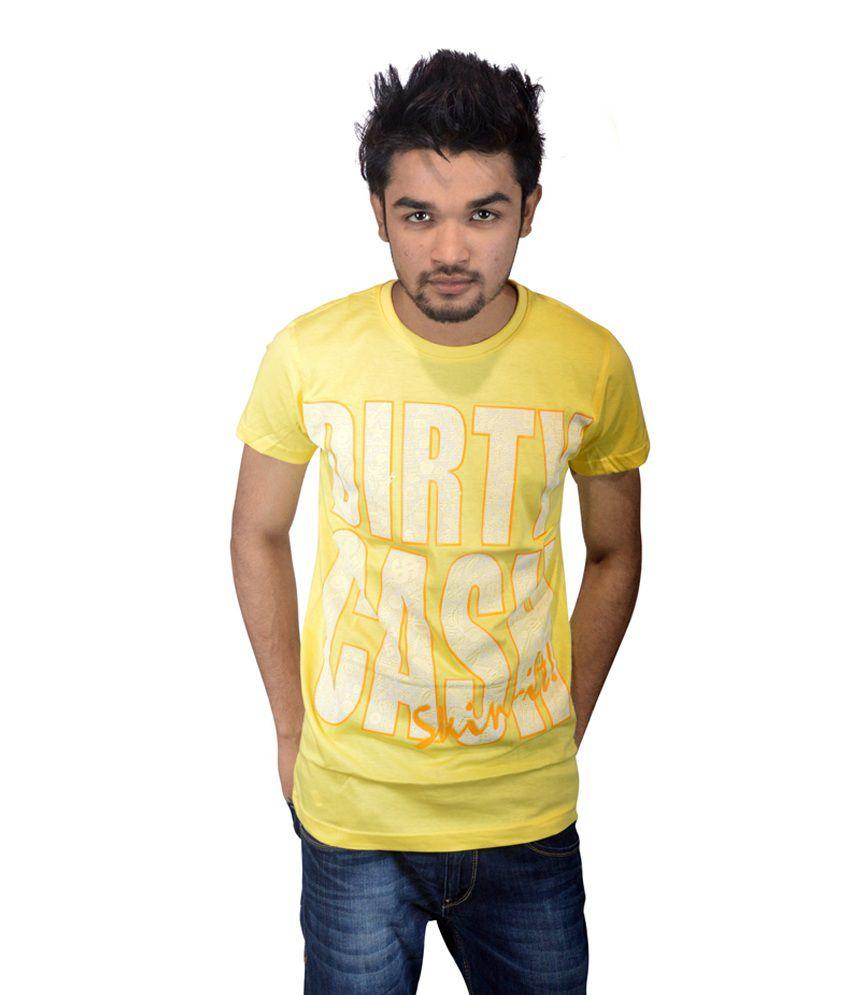 Drakeman yellow dirty cash casual tees