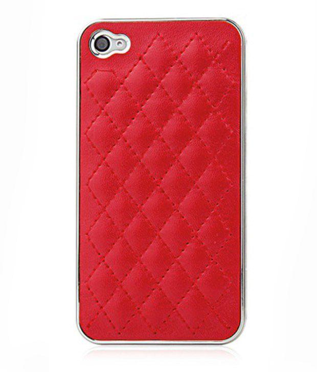Kolorfish Iplaid Back Case For Apple Iphone 4/4S - Red