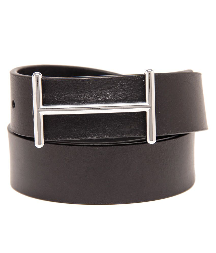 Leather Plus Black Formal Single Belt ForMen