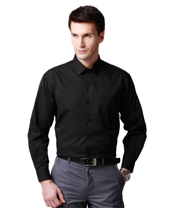 A&S Smart Combo Of Black & White Shirt With Black Tie - Buy A&S ...