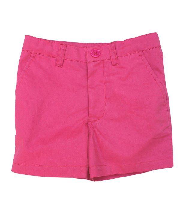 Campana Pink Color Basic Shorts For Kids