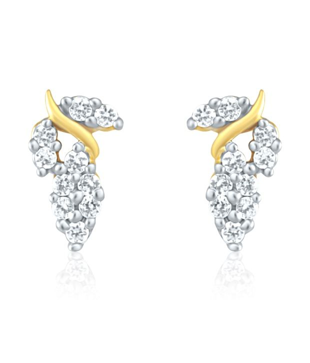 Mahi Gold Plated Earrings with CZ for Women ER1191434G
