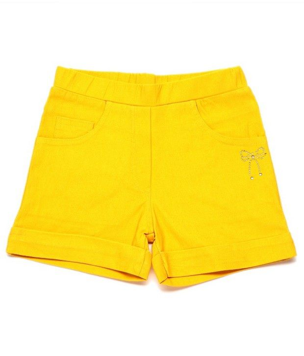 Ever Wear Imported Lam Lam Lycra Gold Color Shorts