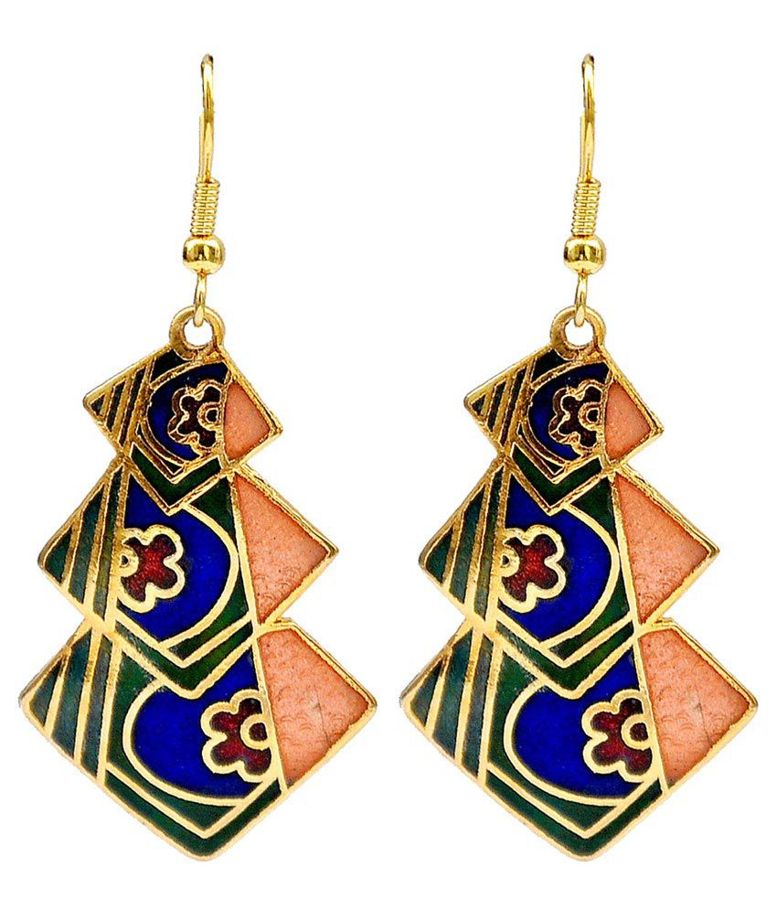 Maayra Cool Multicolour College Party Modern Dangler Earrings