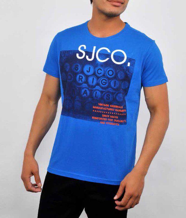 Allen Solly Blue Cotton  T-Shirt