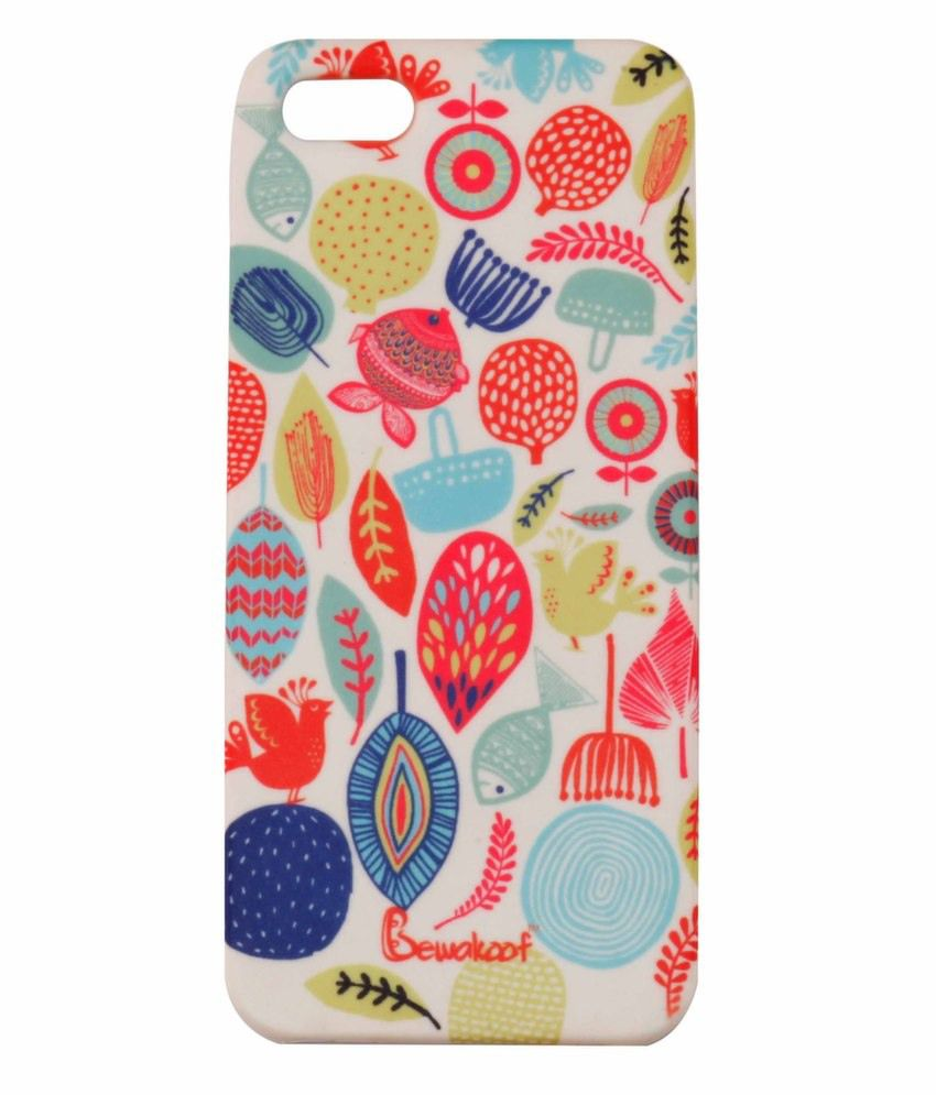 info for a3377 60aae Bewakoof Bloom Back Cover For Apple Iphone 5- White - Plain Back ...