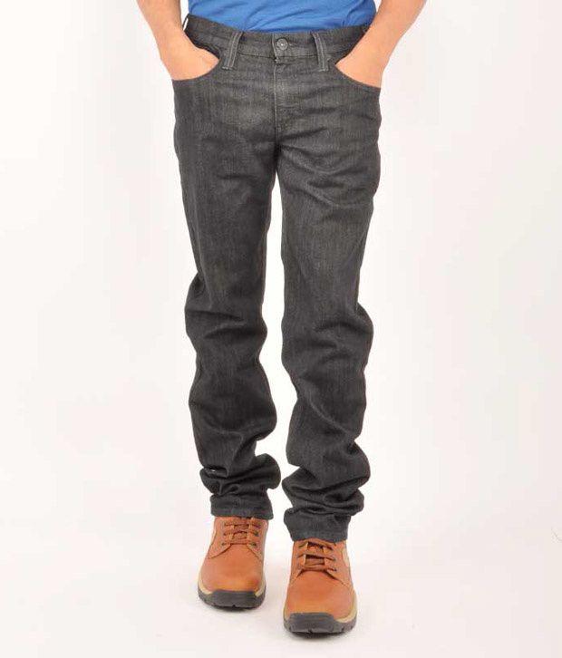 Levis Black Regular  Fit Jeans