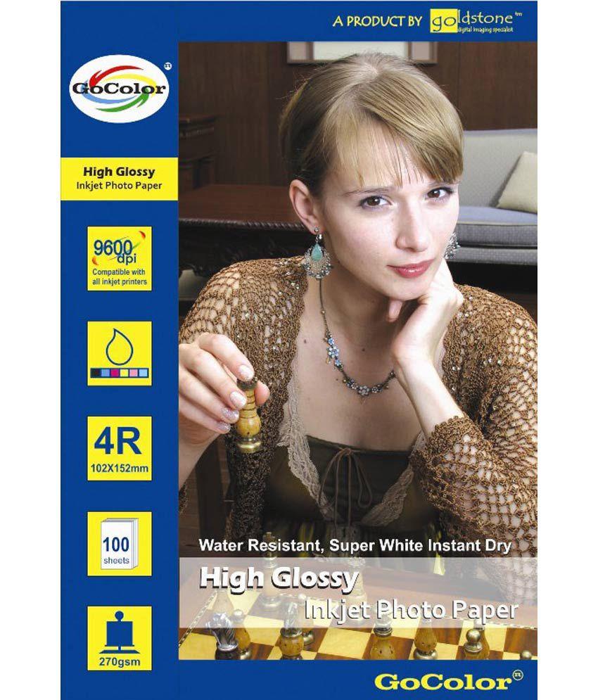 Gocolor High Glossy Inkjet Photo Paper 185 GSM 100 Sheets 4R Size