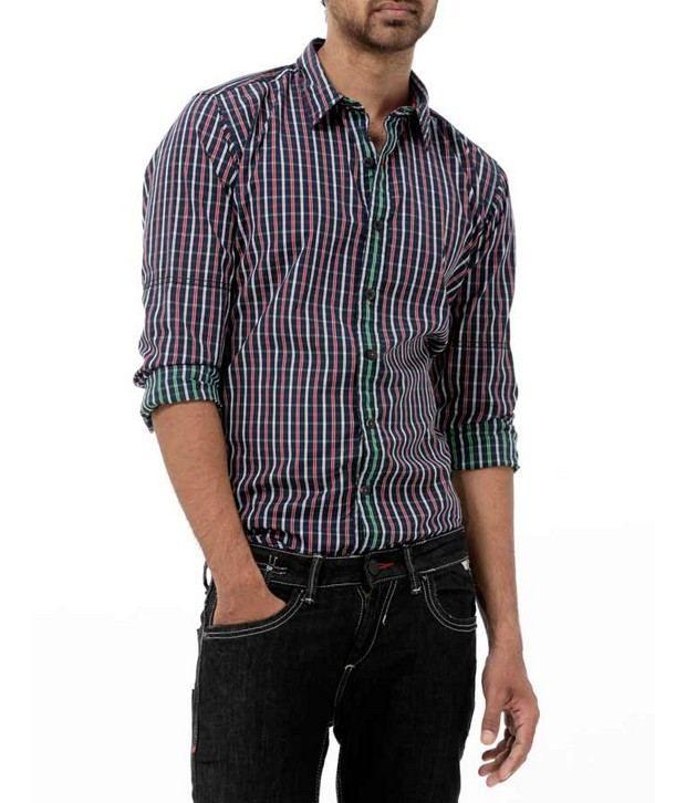 Probase Navy Checkered Shirt